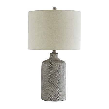 Signature Design by Ashley Linus Ceramic Table Lamp, One Size , Black