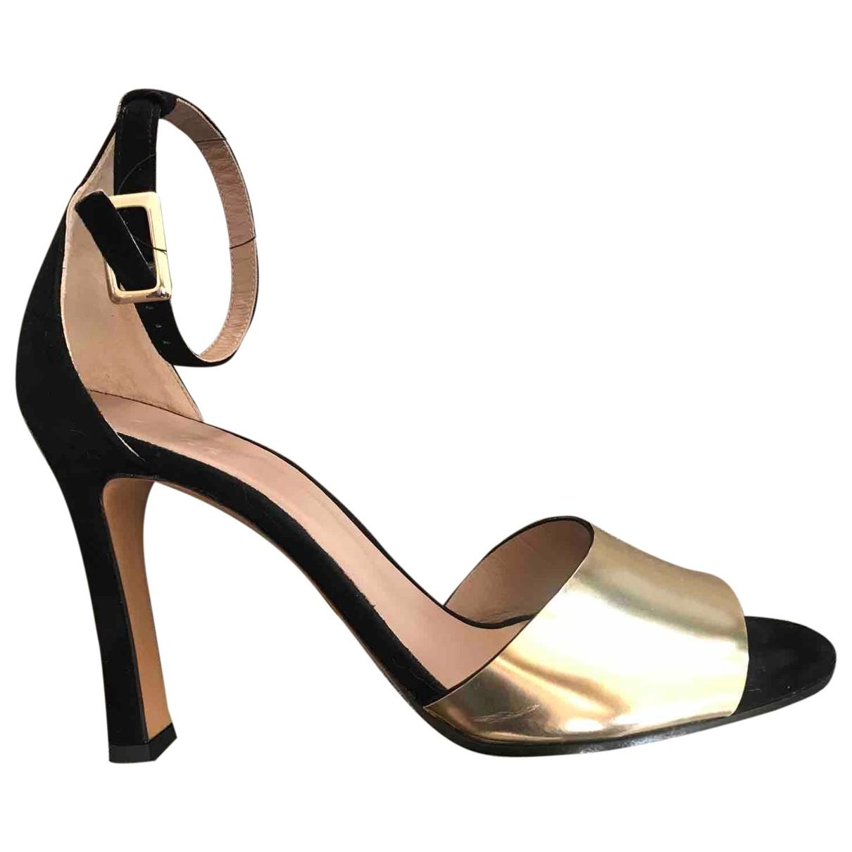 Chloe \N Sandalen in  Gold Leder