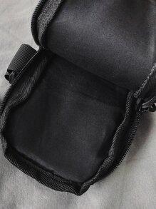 Men Drawstring Decor Arm Bag