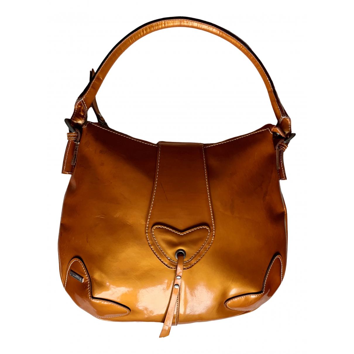 Roberto Cavalli N Orange Patent leather handbag for Women N
