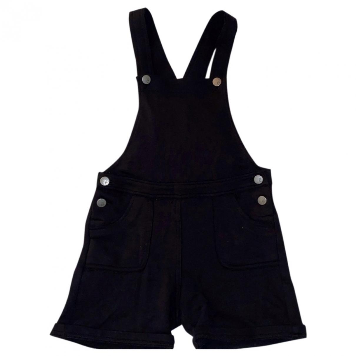 Gaelle Paris \N Black Cotton Trousers for Kids 12 years - XS FR