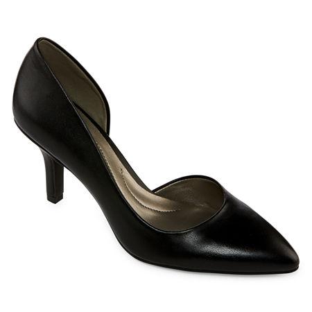 east 5th Womens Daven Closed Toe Stiletto Heel Pumps, 7 1/2 Wide, Black