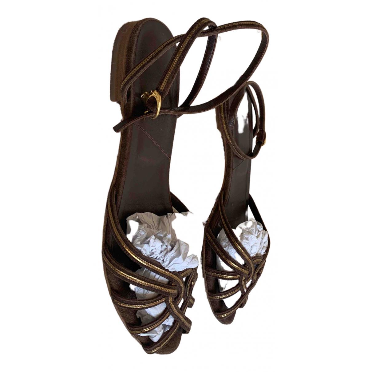 Dior \N Sandalen in  Braun Veloursleder