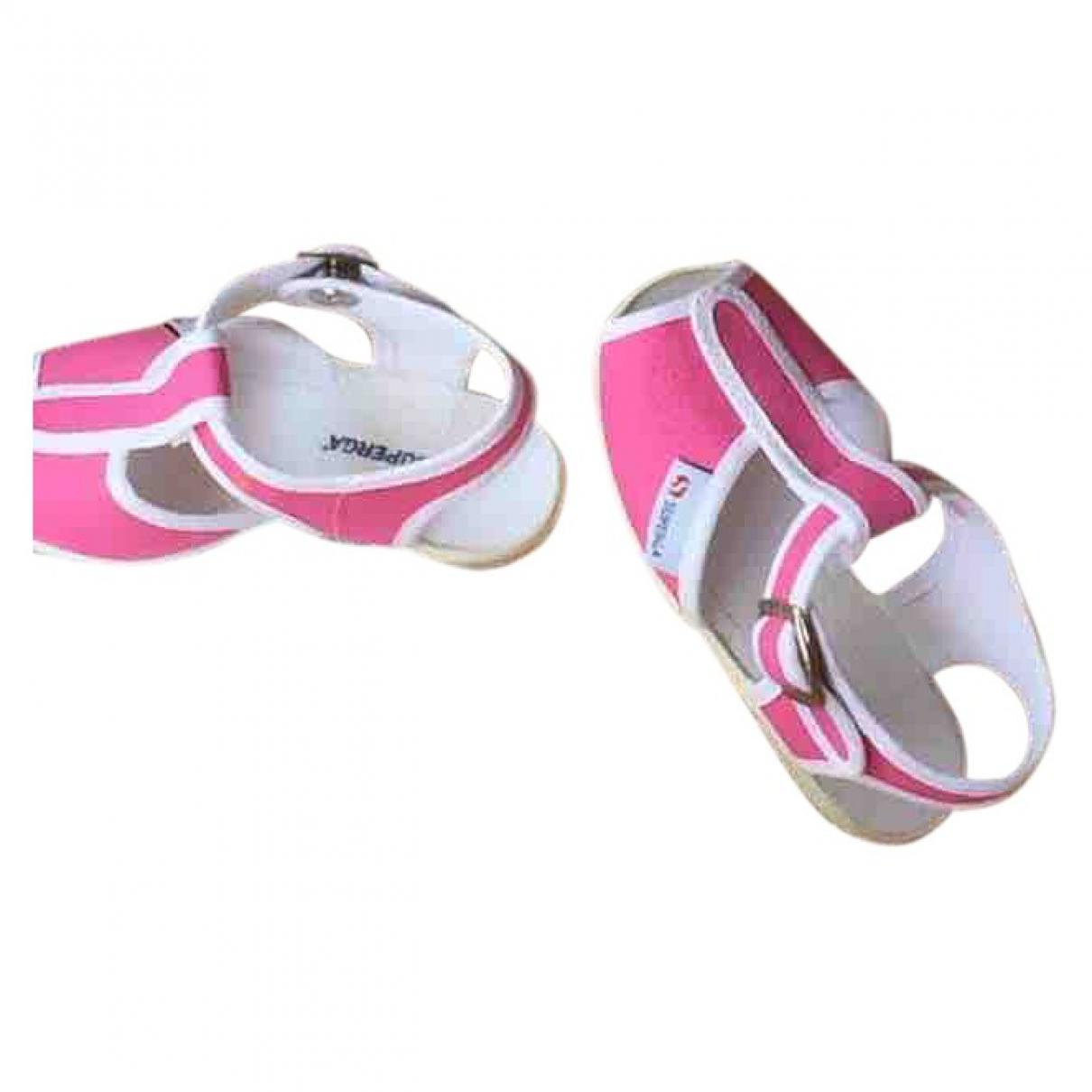 Superga - Sandales   pour enfant en toile - rose