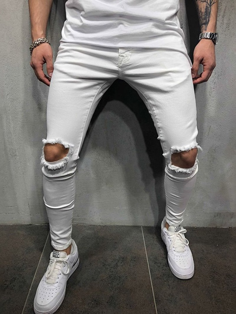 Ericdress Hole Plain Pencil Casual Pants