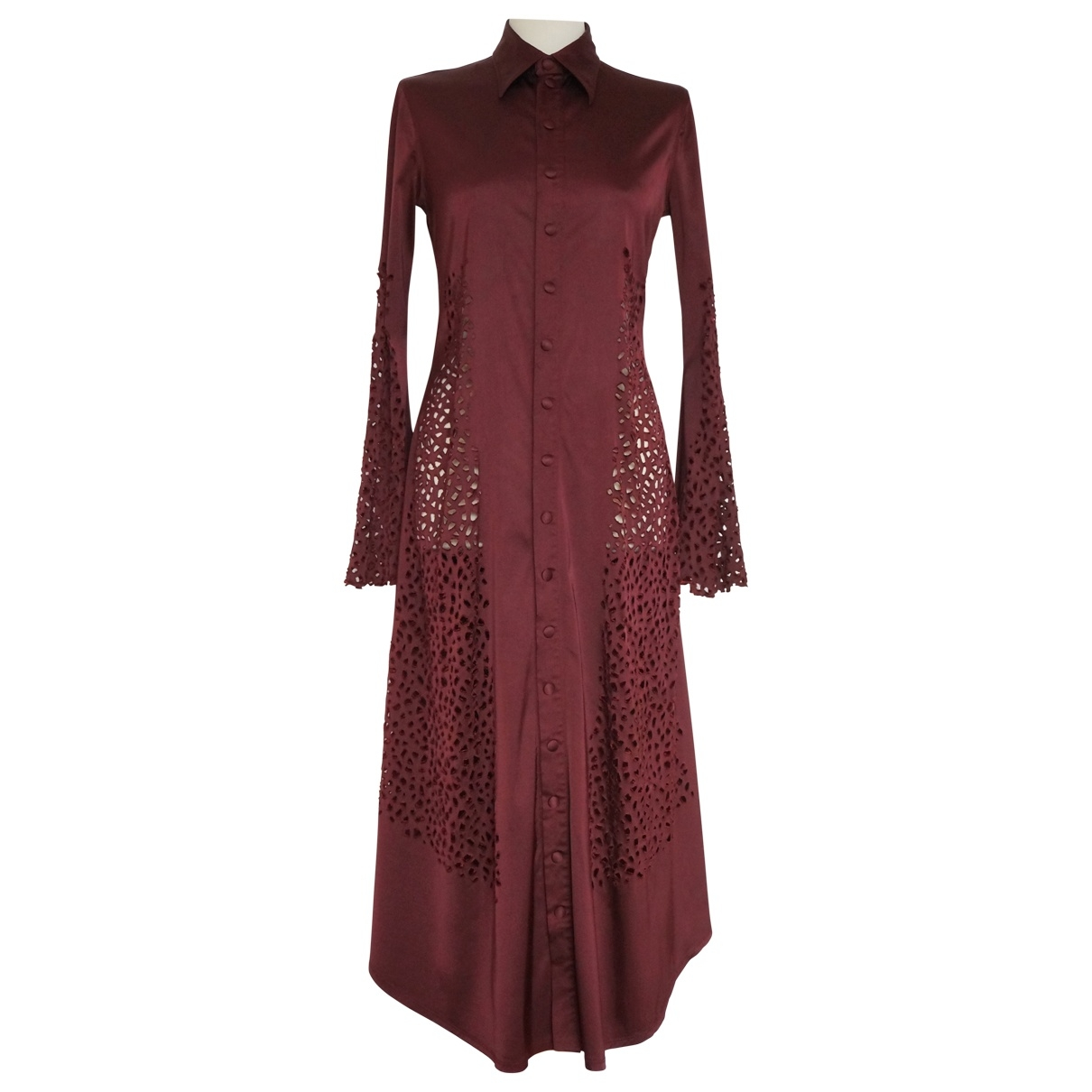 Jean Paul Gaultier \N Burgundy dress for Women 46 IT