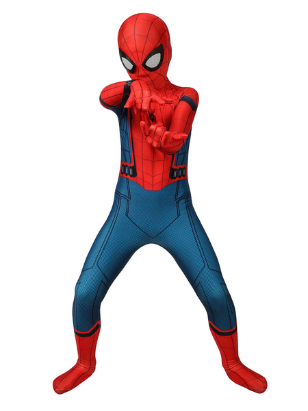 Milanoo Marvel Comics Spider Man Homecoming Kid Cosplay Disfraz Lycra Spandex Mono