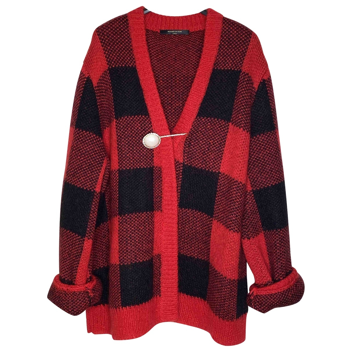 Mother Of Pearl - Pull   pour femme en laine - rouge