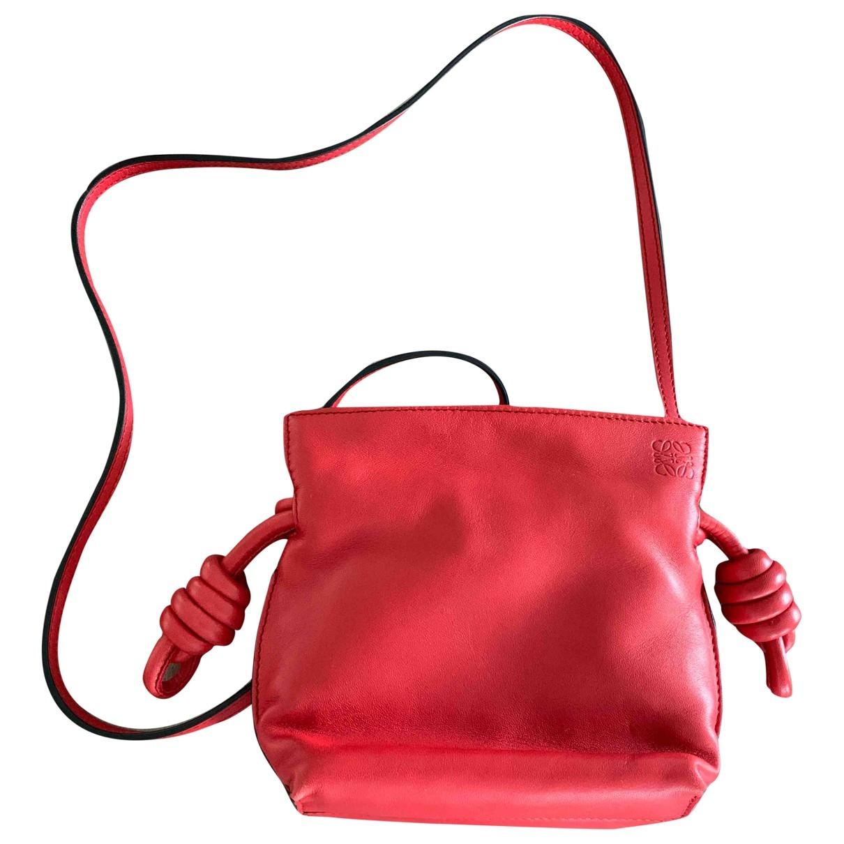 Loewe Flamenco Red Leather handbag for Women \N