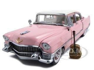 Elvis Presleys 1955 Cadillac Fleetwood Pink Diecast Car Model 1/24 by Franklin Mint