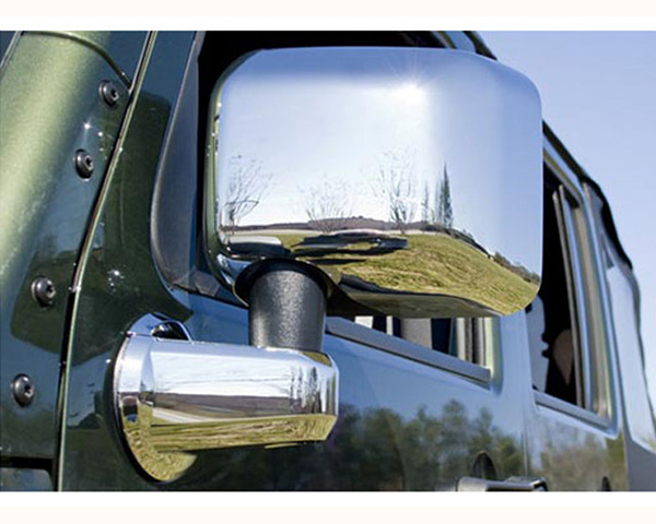 Quality Automotive Accessories Chrome Plated ABS Plastic 2-Piece Mirror Cover Set Jeep Wrangler 2007