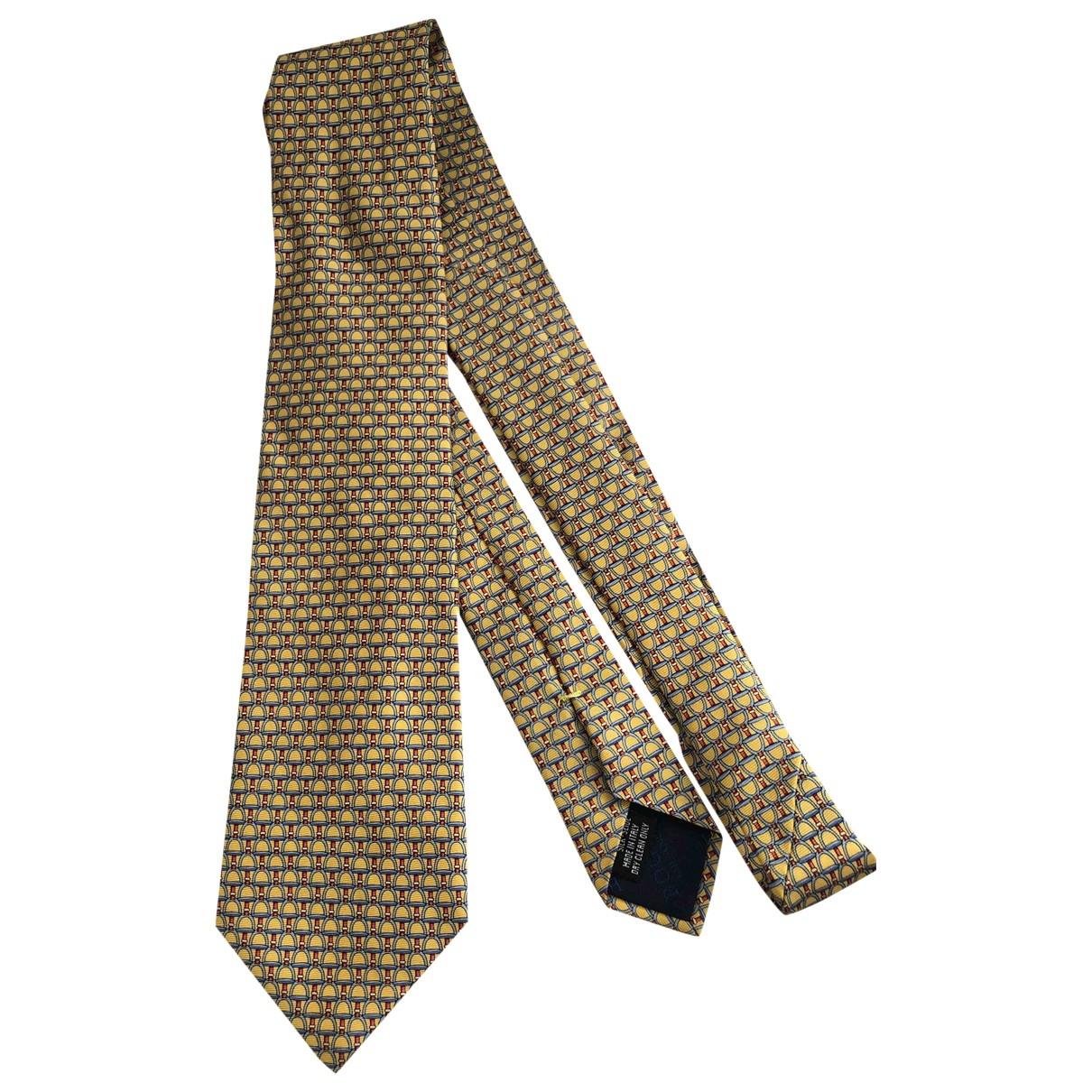 Boggi - Cravates   pour homme en soie - jaune