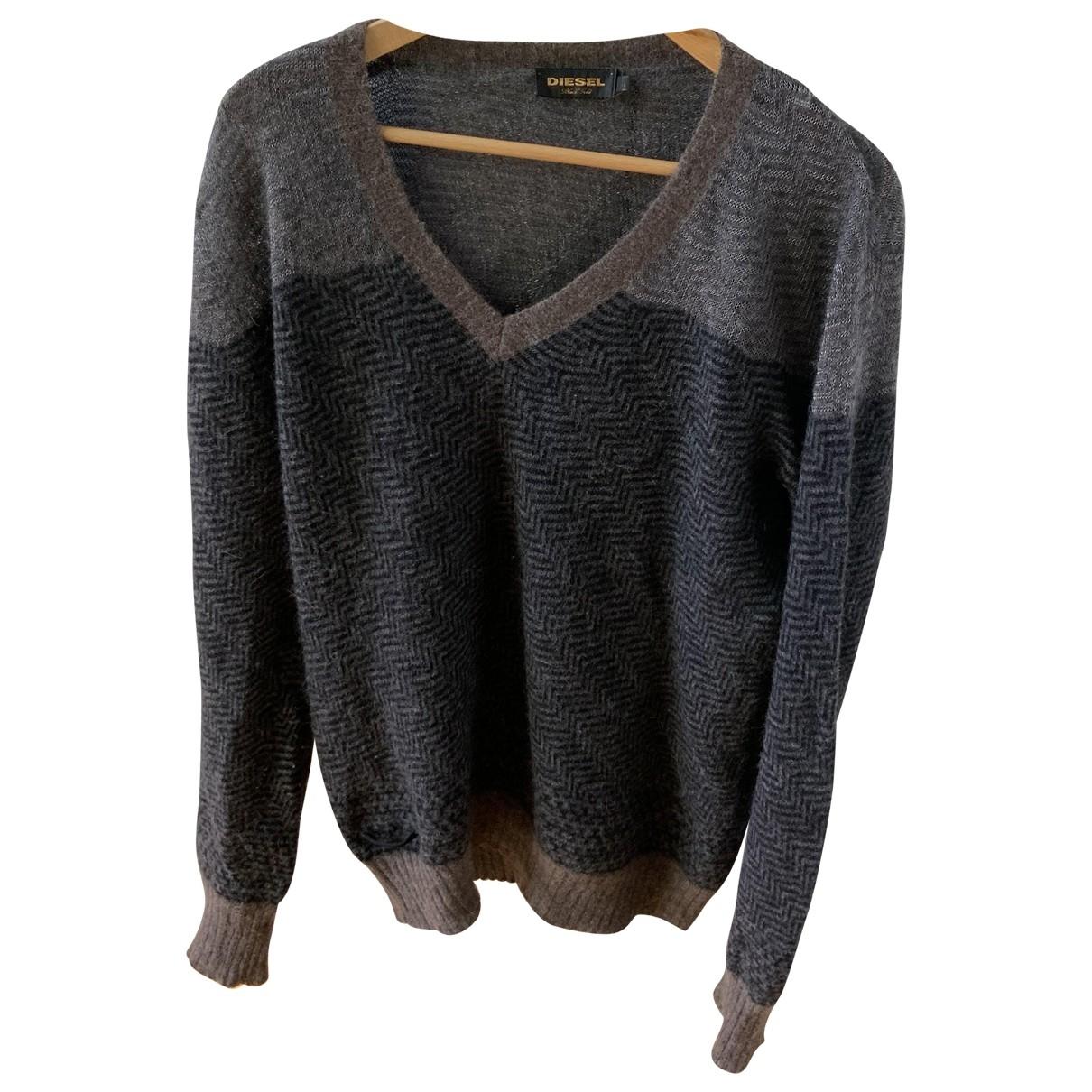 Diesel \N Pullover.Westen.Sweatshirts  in  Schwarz Wolle