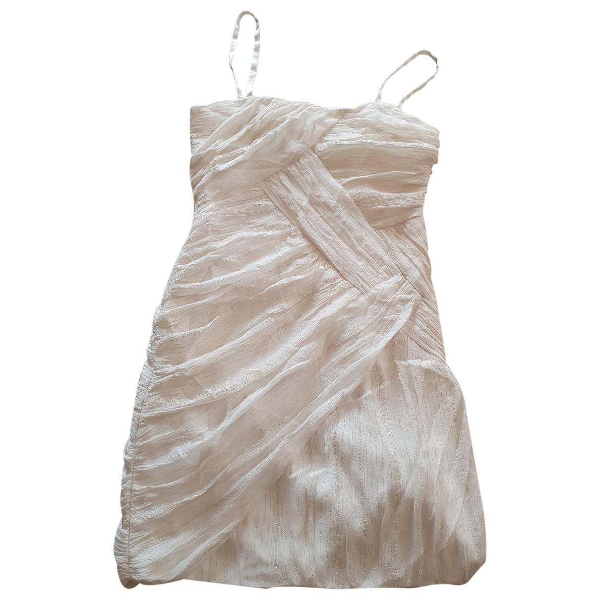 Guess - Robe   pour femme en soie - beige