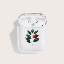 Leaf Pattern Clear Airpods Case