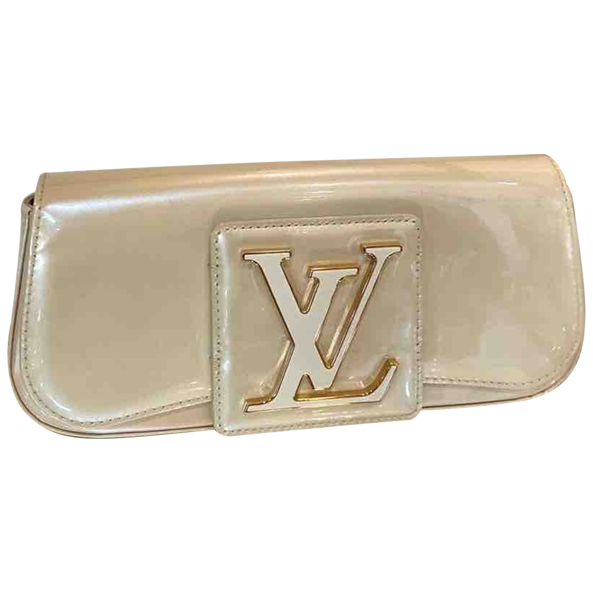Louis Vuitton Sobe Clutch in  Ecru Lackleder