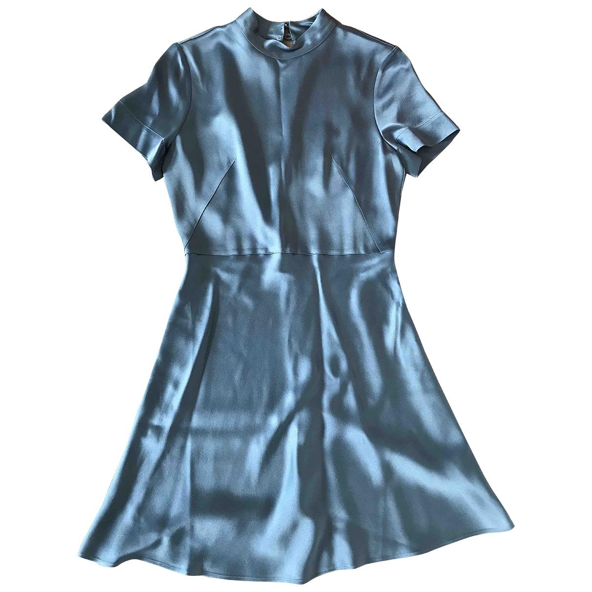 Hugo Boss \N Kleid in  Blau Synthetik
