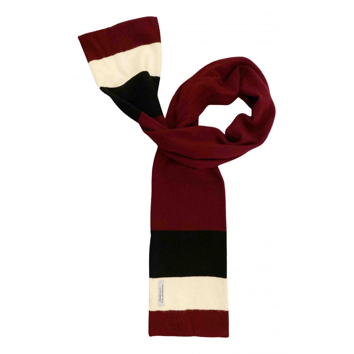Prada N Burgundy Wool scarf & pocket squares for Men N
