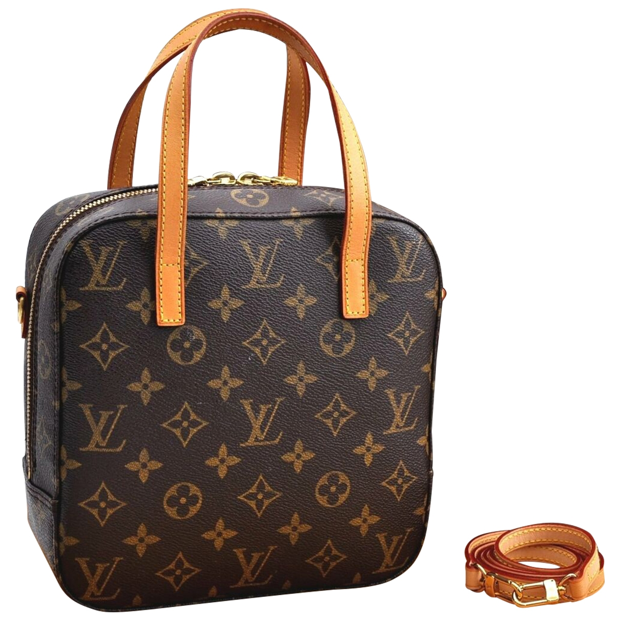 Louis Vuitton Spontini Brown Cloth handbag for Women \N
