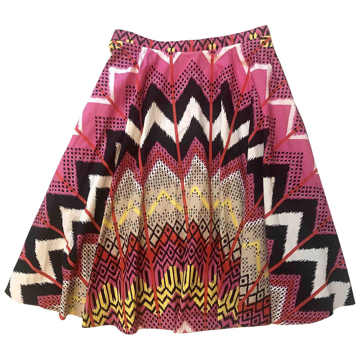 Carven - Jupe   pour femme en coton - multicolore