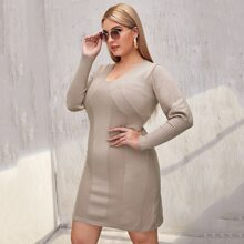 Strukturiertes Strick Kleid