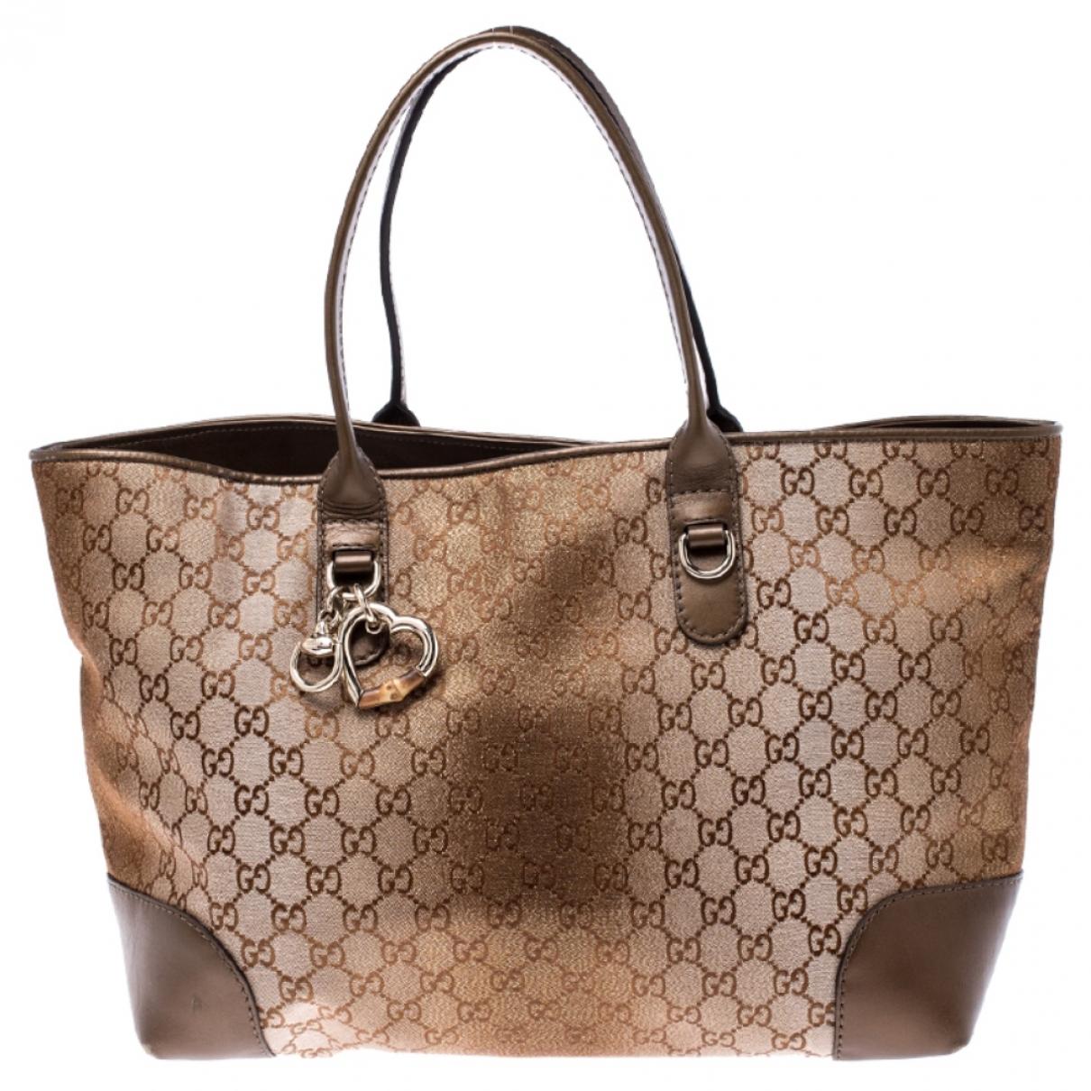 Gucci - Sac a main   pour femme en toile - marron