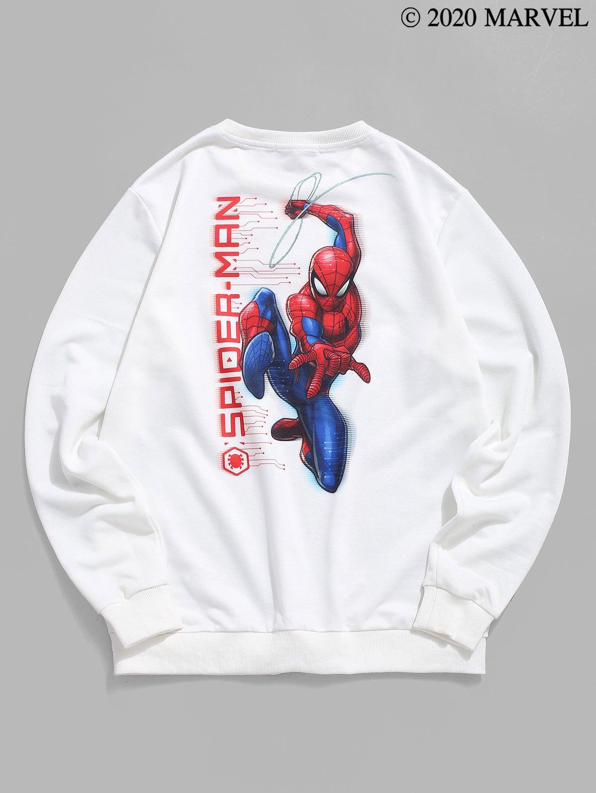 Marvel Spider-Man Graphic Print Pullover Sweatshirt