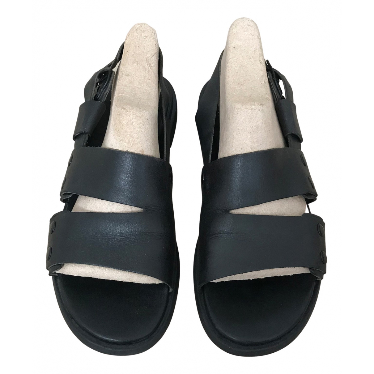 Camper \N Black Leather Sandals for Women 40 EU