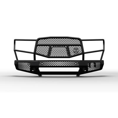 Ranch Hand Midnight Front Bumper with Grille Guard (Black) - MFT16MBM1