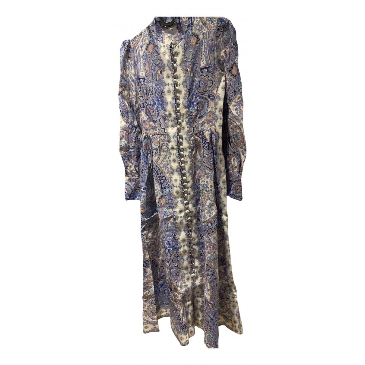 Zimmermann - Robe   pour femme en lin - bleu