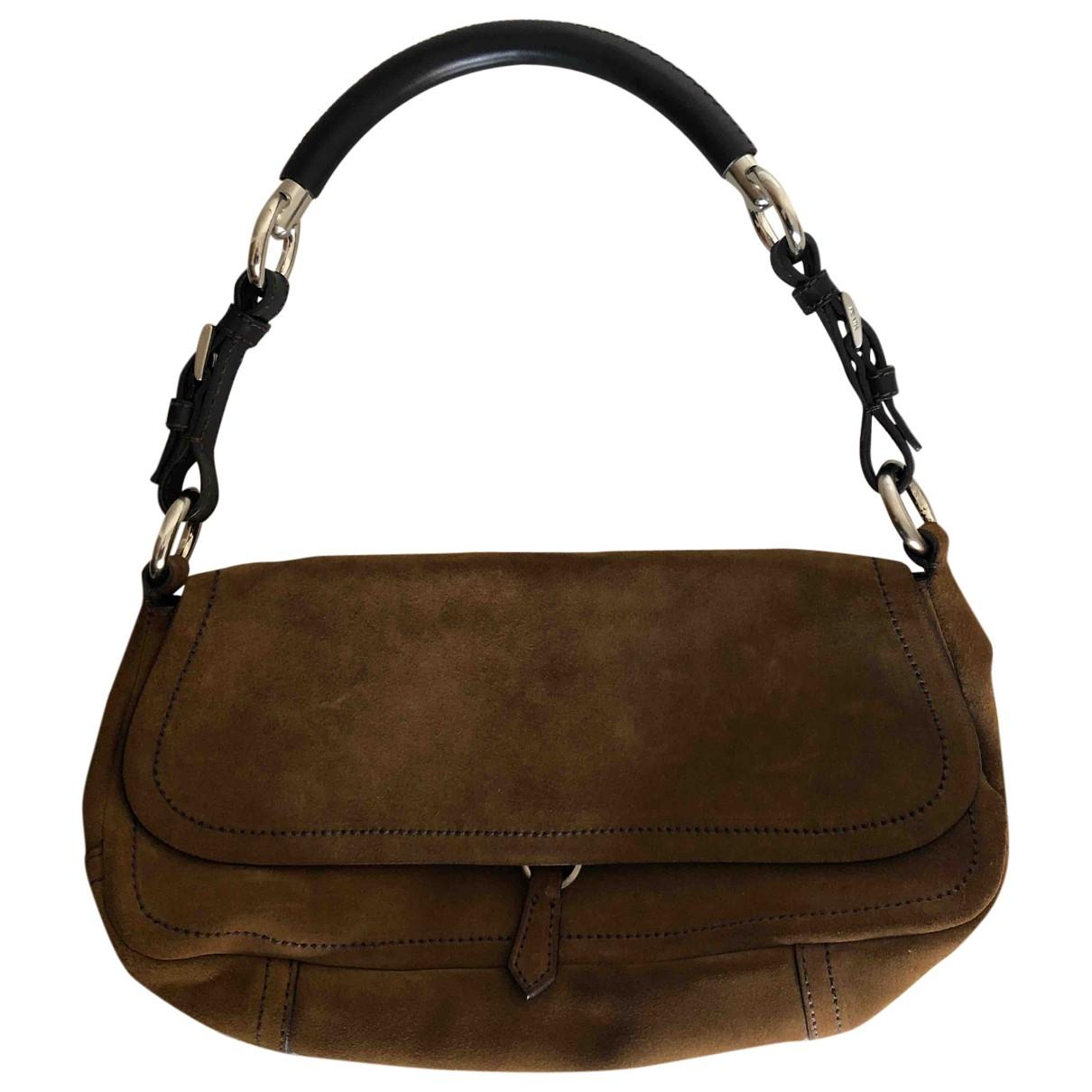 Prada \N Camel Suede handbag for Women \N