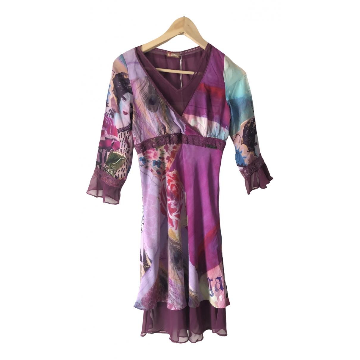 Galliano - Robe   pour femme en soie - multicolore