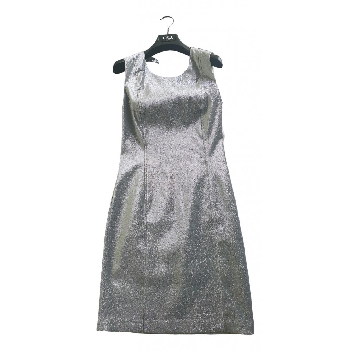 Moschino Love \N Kleid in  Silber Synthetik