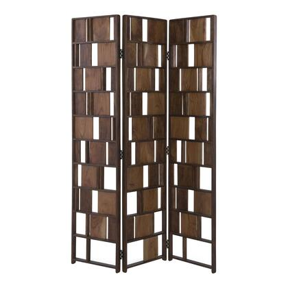 BZ-1015-37 Screen with Solid Acacia Wood in Brown