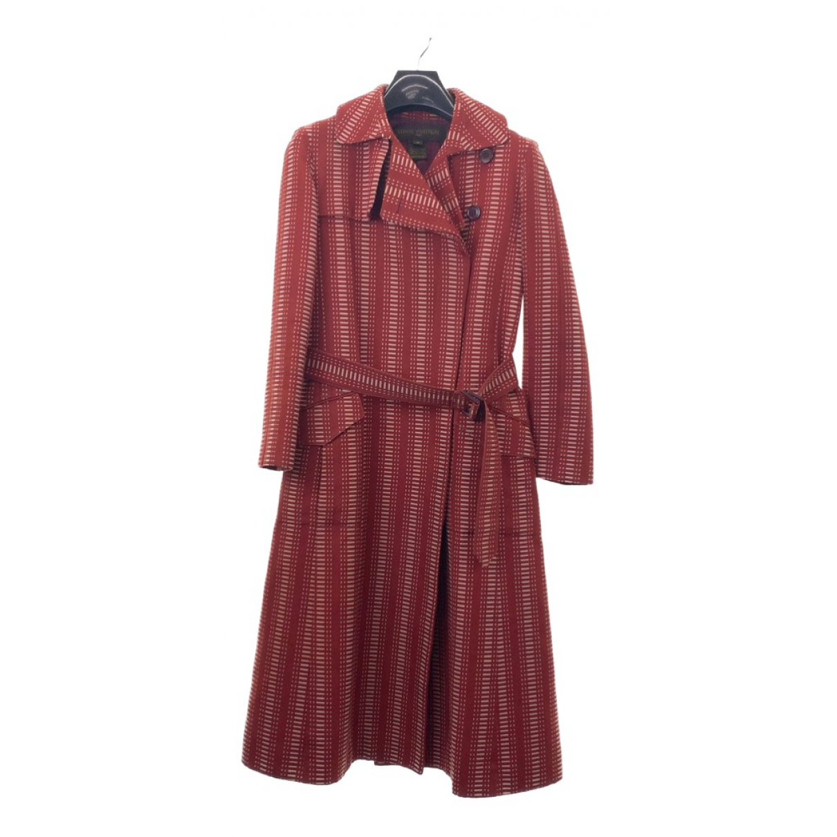 Louis Vuitton \N Trench in  Rot Baumwolle
