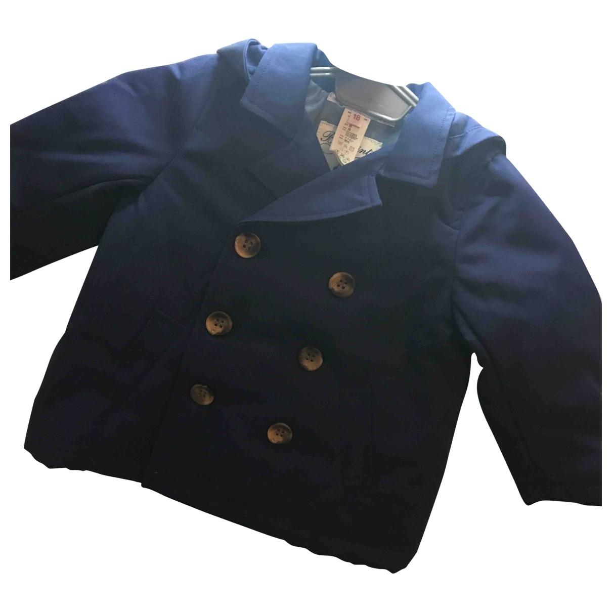 Bonpoint \N Blue Cotton jacket & coat for Kids 18 months - up to 81cm FR