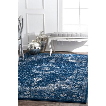 nuLoom Verona Rug, One Size , Blue