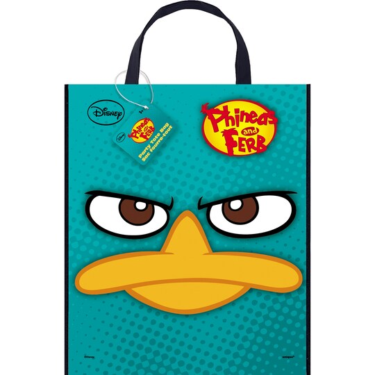 Large Plastic Phineas And Ferb Goodie Bag, 13