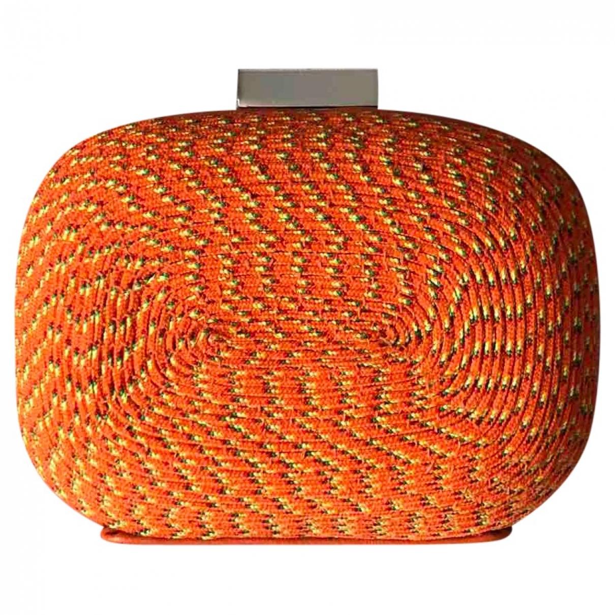 Zara \N Clutch in  Orange Leinen