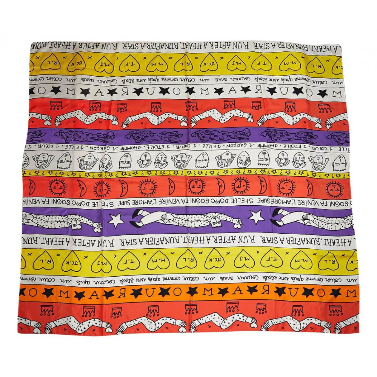 Jc De Castelbajac - Carre   pour femme en soie - multicolore