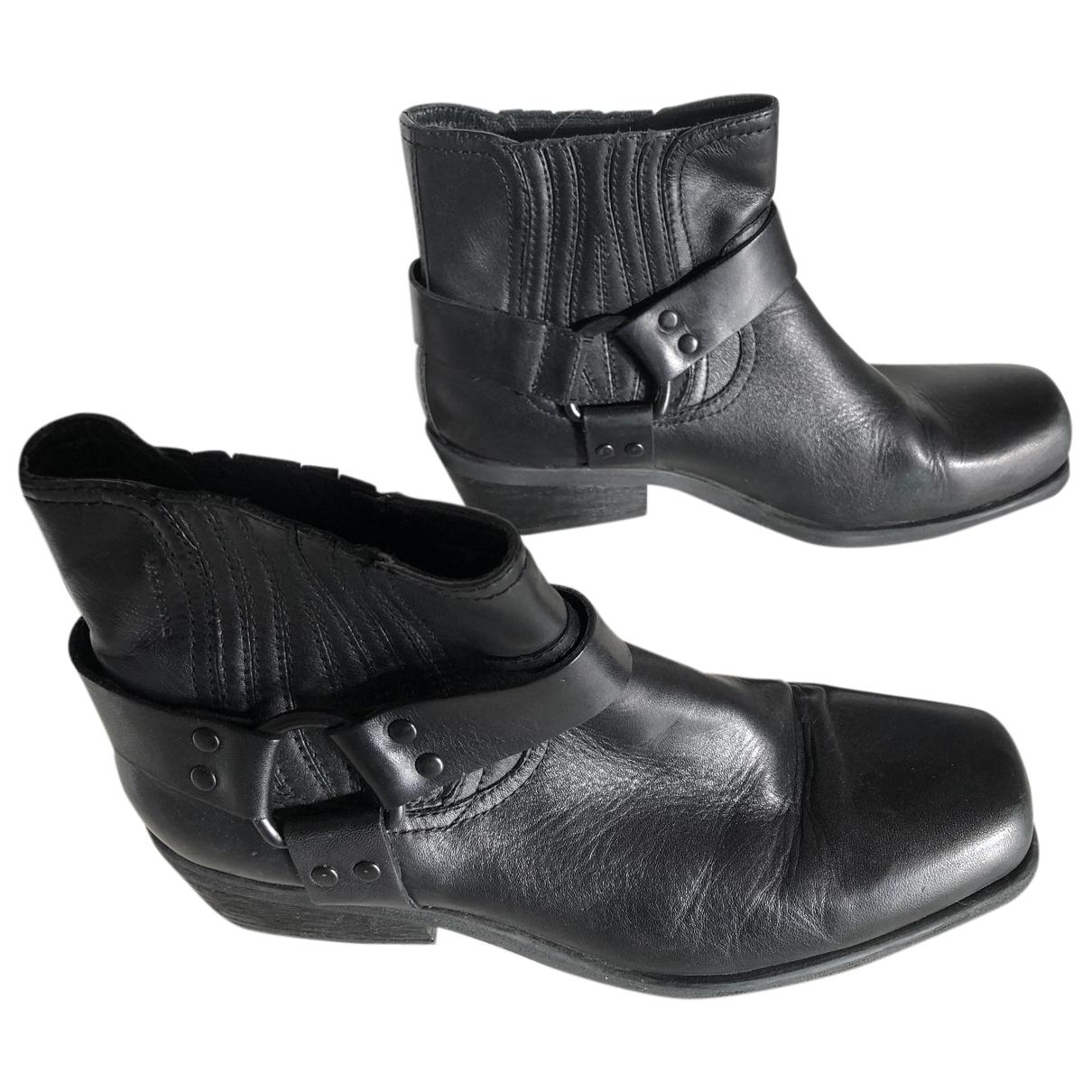 Vagabond - Bottes   pour femme en cuir - noir