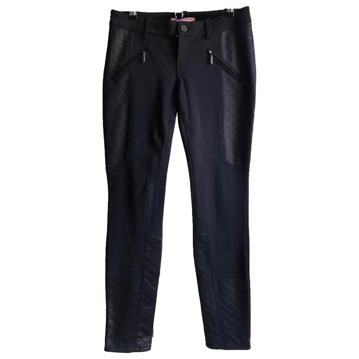 Non Signé / Unsigned N Black Trousers for Women M International