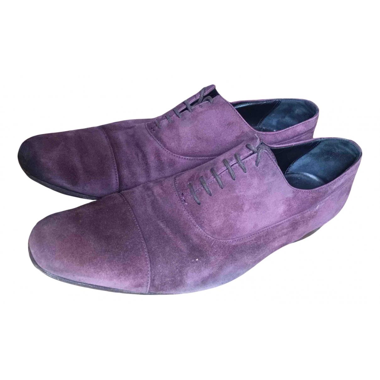 Hermes - Derbies   pour homme en cuir - violet