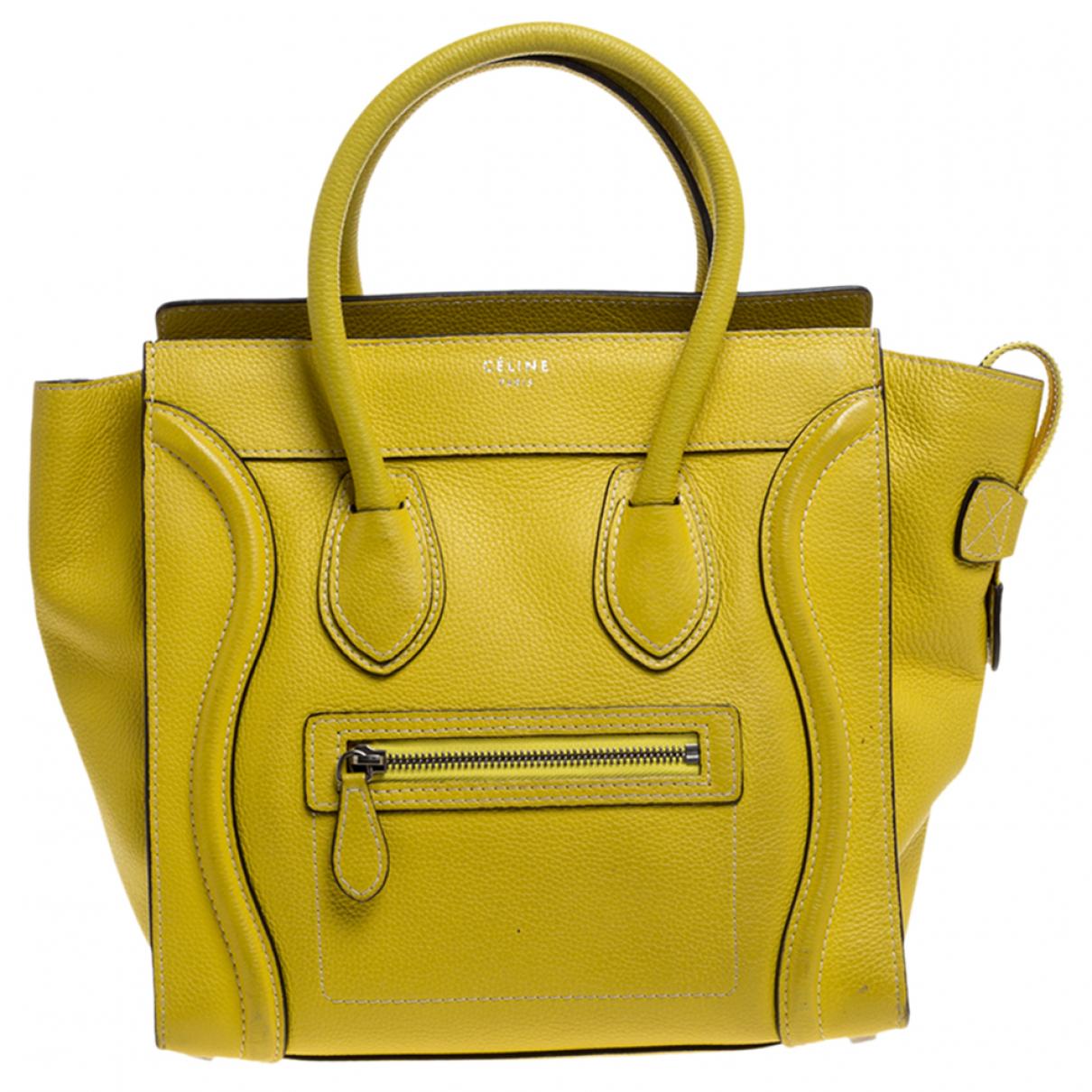 Celine Luggage Handtasche in  Gelb Leder