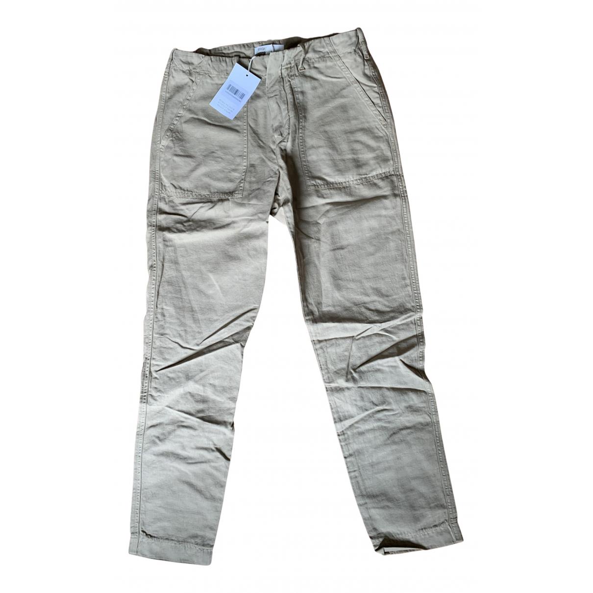 Maje Fall Winter 2019 Beige Cotton Trousers for Women 38 FR