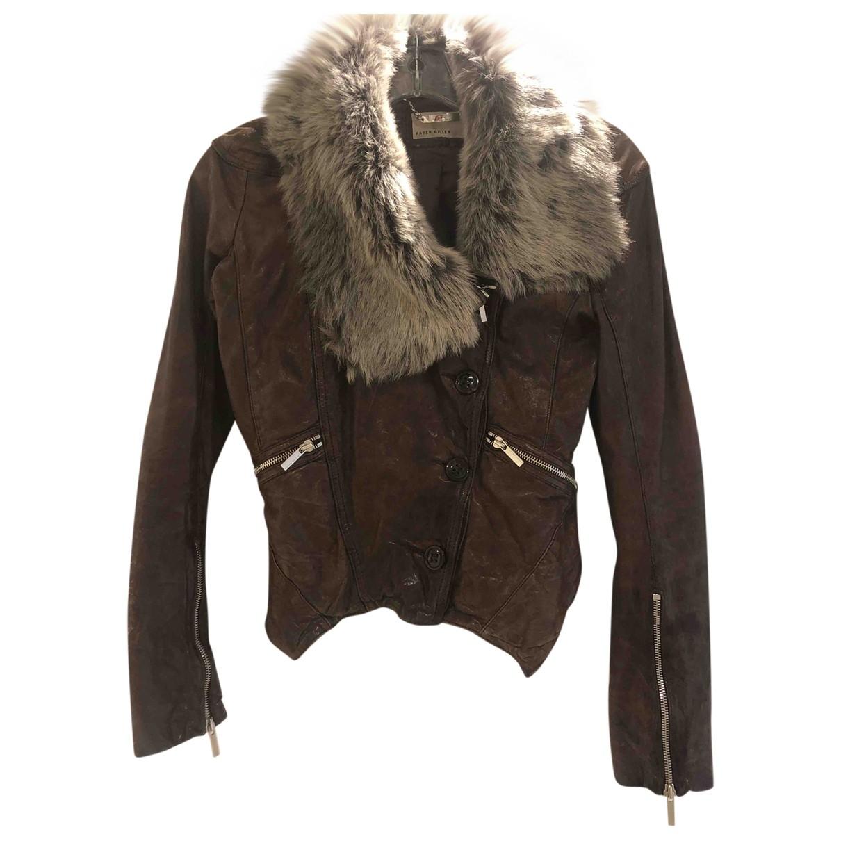 Karen Millen \N Brown Leather jacket for Women 6 UK