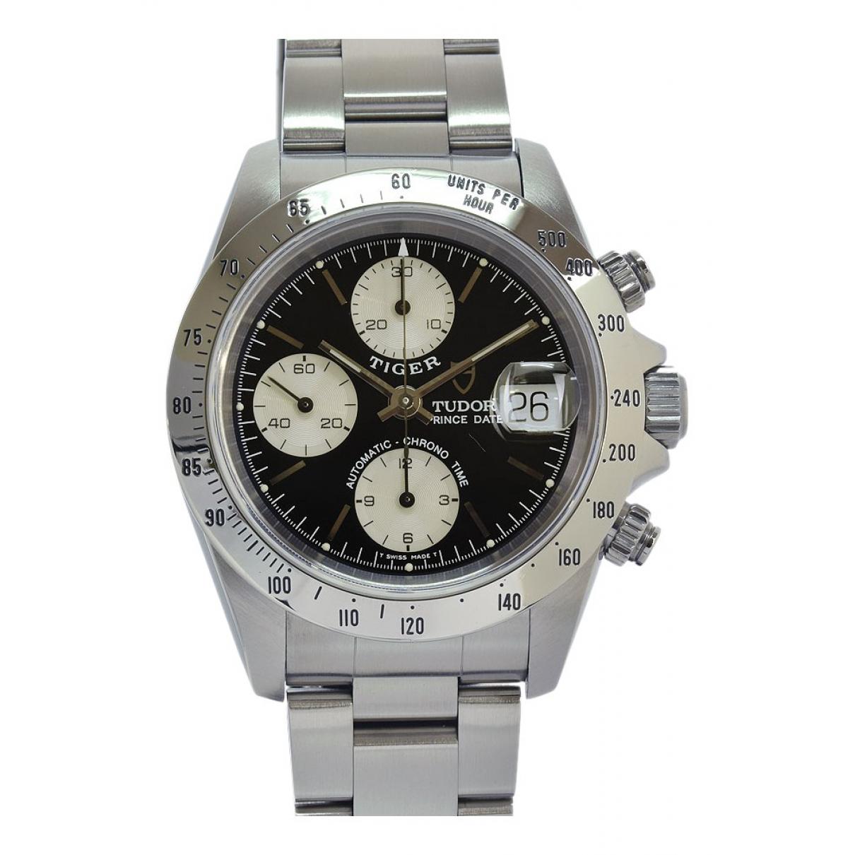 Tudor Tiger Prince Date Uhr in  Schwarz Stahl