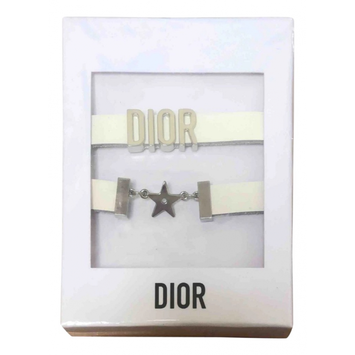 Dior \N Armband in  Weiss Leder