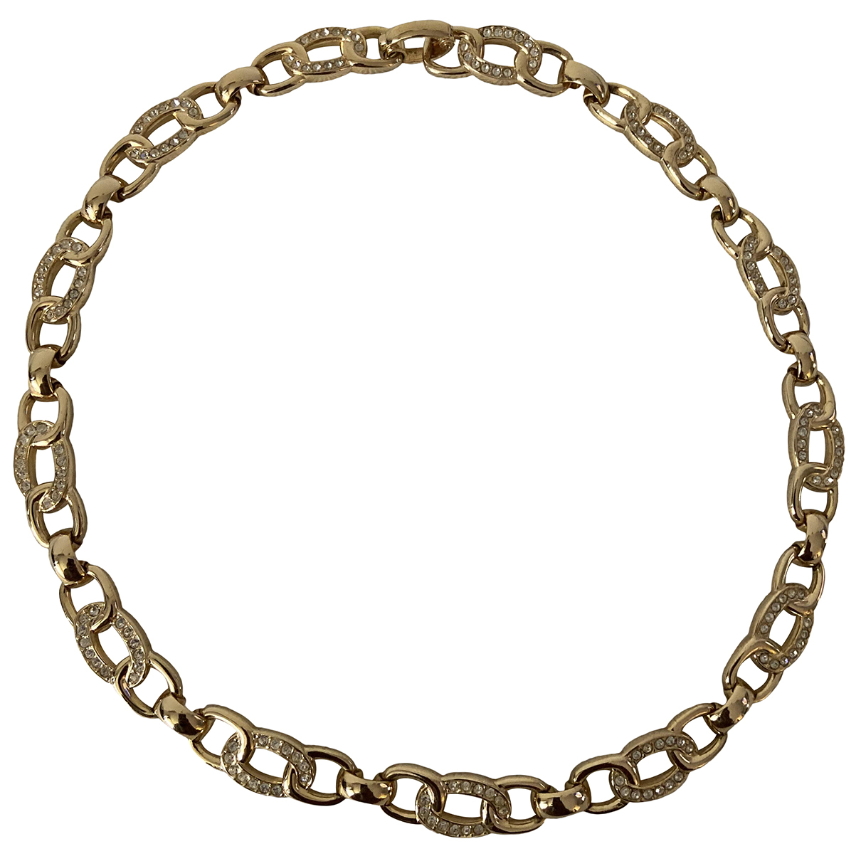 Dior N Gold Metal necklace for Women N