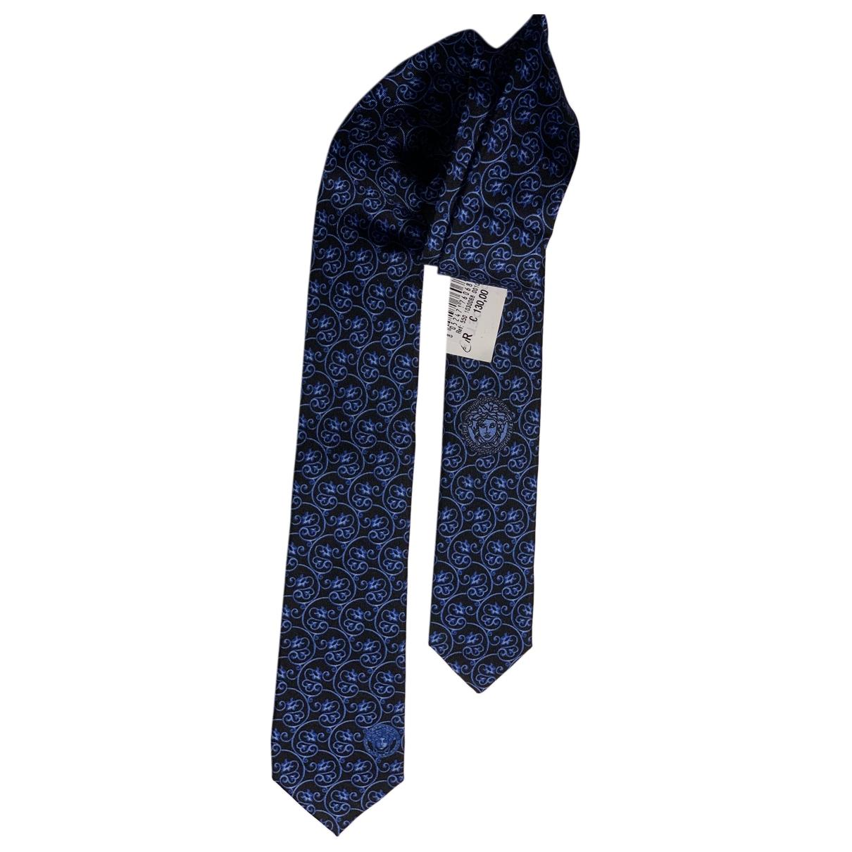 Versace \N Blue Silk Ties for Men \N